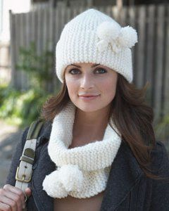 Snow Bunny Cowl and Hat Set | AllFreeKnitting.com