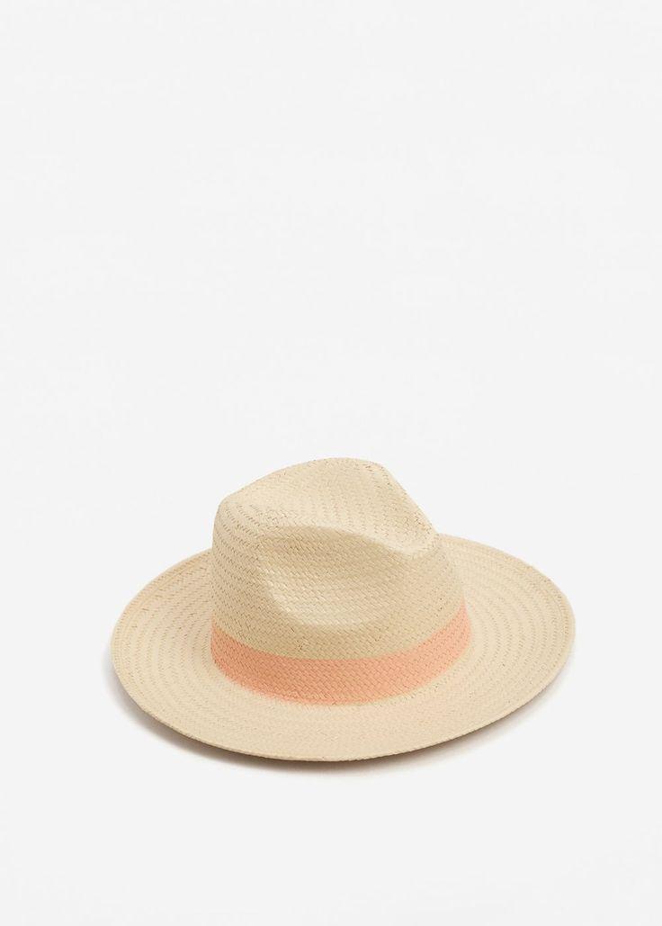 Straw fedora hat - Women   MANGO USA