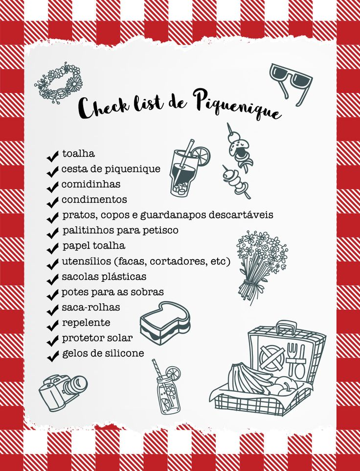 check list piquenique