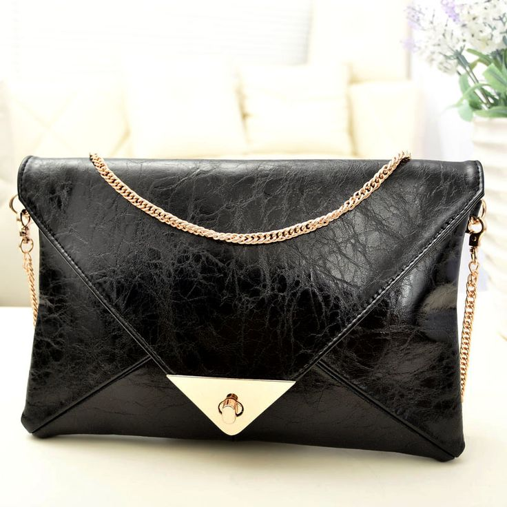 NEW Women Girl Clutch Purse Envelope Korea style Evening bag Patchwork chain envelope bag day clutch messenger bag Size 28*19 www.bernysjewels.com #bernysjewels #jewels #jewelry #nice #bags