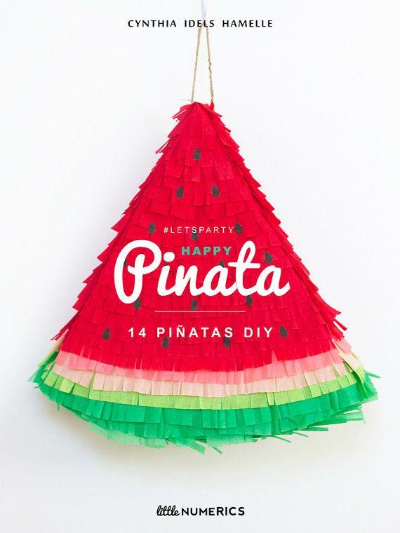 EBook: Happy piñata 14 pinatas DIY by LittleNumerics on Etsy