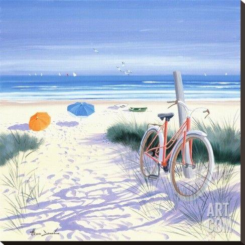 Art.fr - Tableau sur toile 'Le vélo rouge' par Henri Deuil