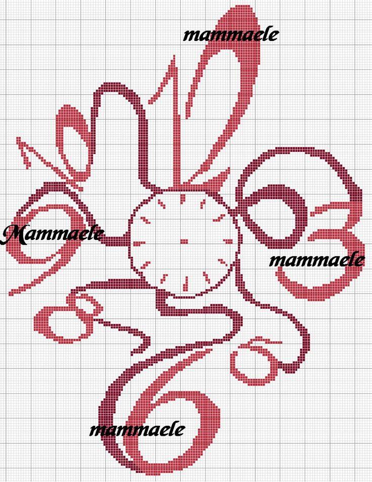 orologio punto croce schemi - Cerca con Google