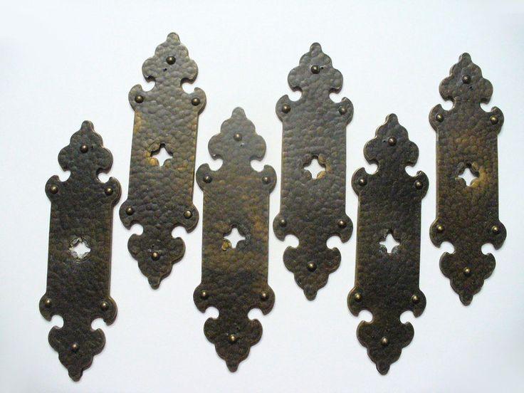 Weiteres - 6 alte Möbelbeschläge / Beschläge Messing antik - ein Designerstück von BunterMix bei DaWanda