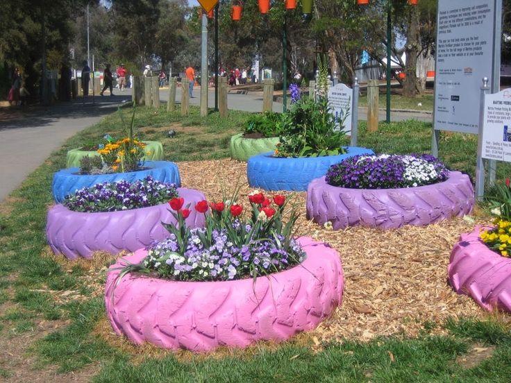 Decoração-de-jardim-material-reciclado                                                                                                                                                                                 Mais