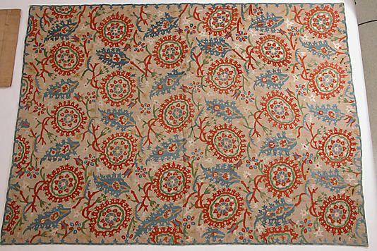 Hanging  Date:     17th–18th century Geography:     Turkey Culture:     Islamic Medium:     Linen, silk thread; embroidered