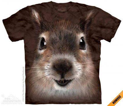 Squirrel Face - The Mountain - Koszulka z wiewiórką - www.veoveo.pl