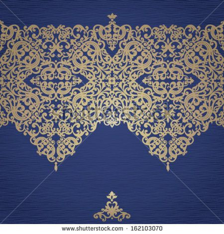 Vector Baroque Seamless Border In Victorian Style. Golden Frieze On Dark Background. Element For Design. It Can Be Used For Decorating Of Invitations, Greeting Cards, Decoration For Bags And Clothes. - 162103070 : Shutterstock
