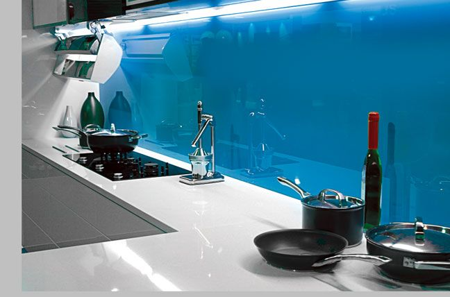 Just one simple coloured glass #splashback against plain counters can completely transform your #kitchen. #CreoGlass can match any colour, and we also have a selection of #bespoke and #luxury collections available, for truly one of a kind design.