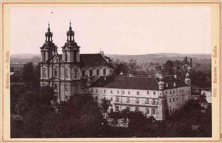 Bazylika św. Michała Archanioła na Skałce, Kraków - 1894 rok, stare zdjęcia ,Lata 1890-1899 , Klasztor Paulinów na Skałce.