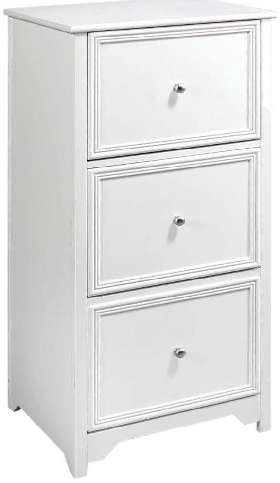 White File Cabinet 3-drawer Home Office Storage Drawers Easy Assembly #HomeDecoratorsCollection