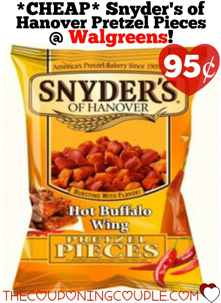 *CHEAP* Snyder's of Hanover Pretzel Pieces @ Walgreens! Print this $0.55/1 Snyder's of Hanover Pretzel Pieces coupon and you can grab this great deal!  Click the link below to get all of the details ► http://www.thecouponingcouple.com/cheap-snyders-of-hanover-pretzel-pieces-walgreens/ #Coupons #Couponing #CouponCommunity  Visit us at http://www.thecouponingcouple.com for more great posts!