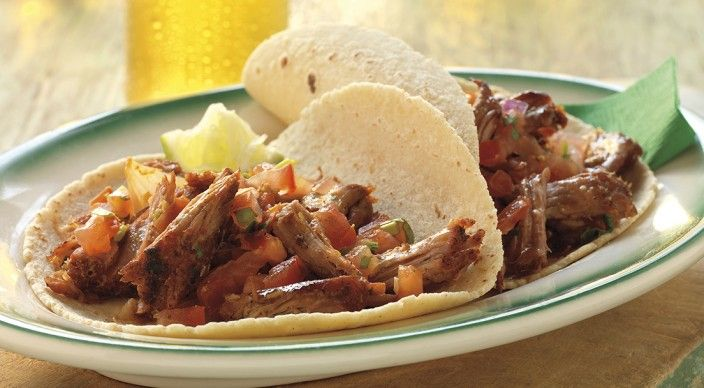 These pork carnitas are slow-simmered to the perfect flavor.