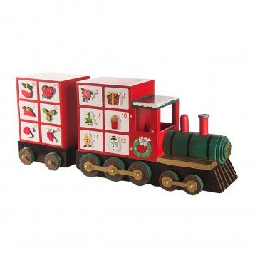 Wooden Train Advent Calendar 46cm