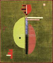 Tappeto moderno a motivi in lana e seta (fatto a mano)