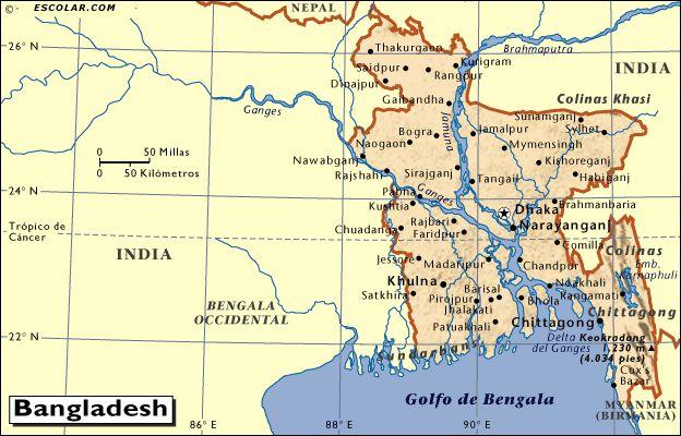 bangladesh mapa - de búsqueda