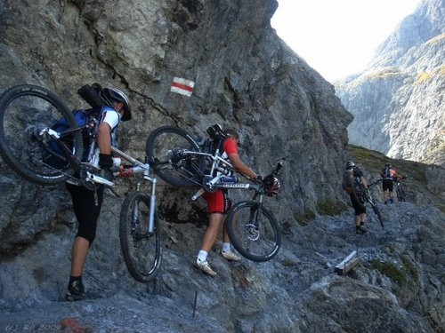 Val d'Uina, Switzerland  Crazy cyclists!!!!