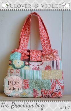 The Brooklyn Bag - pdf-patroon van Clover & Violet