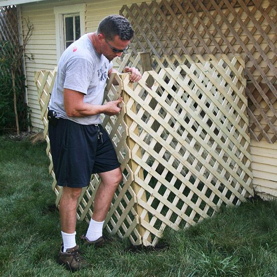 How to build a compost bin  (for when I put lattice around air conditioner -- tells how to do it)