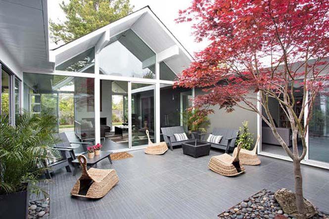 Μοντέρνο σπίτι στην Καλιφόρνια με υπέροχη εσωτερική βεράντα