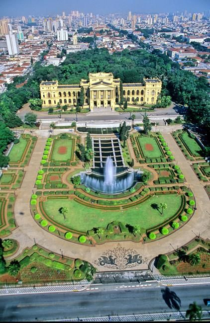 Ipiranga museum, Sao Paulo, Brazil from the Brazil Ministry of Tourism. ~ Such incredible gardens