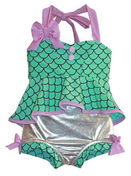 Little+Mermaid+Retro+Hi-Lo+Tankini+Swimsuit+Preorder  2+to+12+Years
