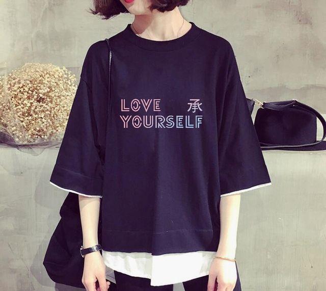 BTS Bangtan Logo T-shirt Shirt Top kpop korean fashion Merchandise Love Yourself