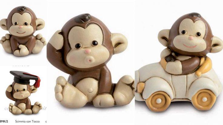 La mia grande passione : Collezionare oggetti in pasta di sale o in ceramica come queste simpatiche scimmiette! :)