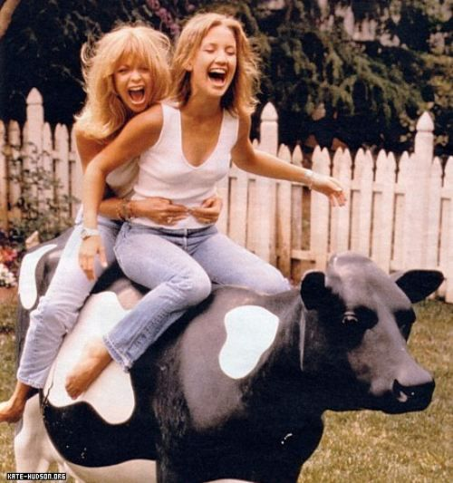 Goldie Hawn with daughter, Kate Hudson