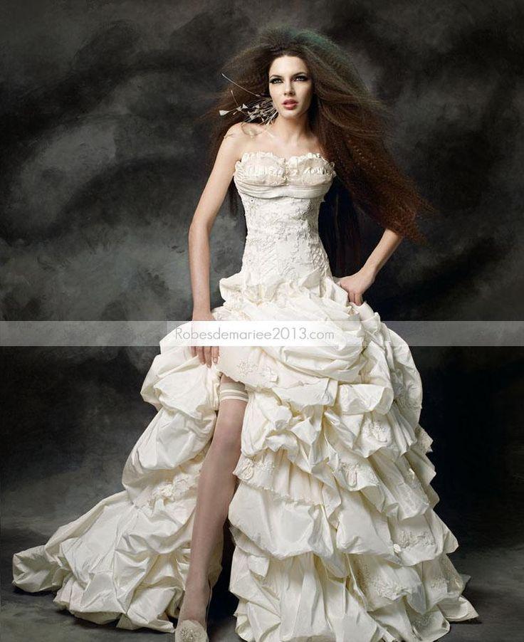 €305.29 - nante robe de bal bustier plissée Cœur Longueur sol traîne Robe de mariée