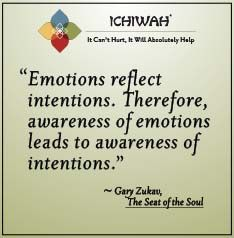 Emotions reflect intentions. Therefore, awareness of emotions leads to awareness of intentions. – Gary Zukav, The Seat of the Soul