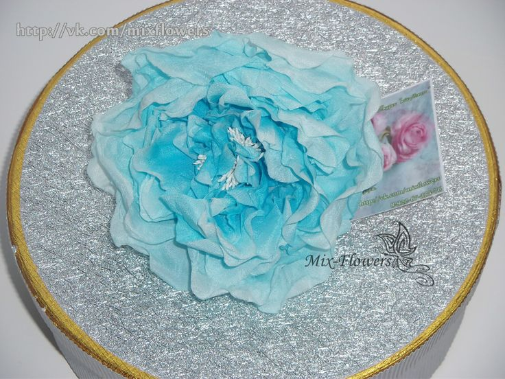 Silk rose brooch / hairpin, in Stock • $30 mix-flowers.ru