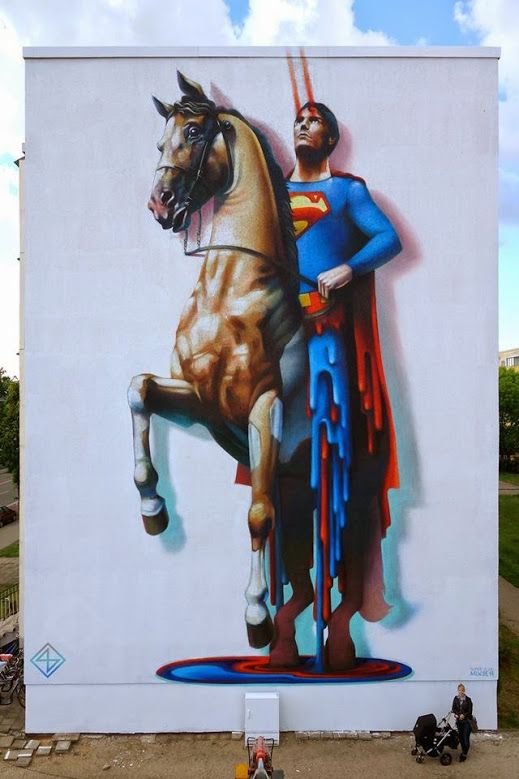 Street art by Super A in Wittenberg, Germany
