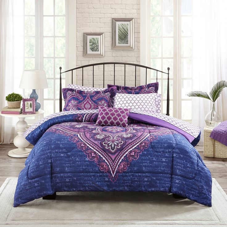 Hana 8pc Comforter Sheets Boho Bedding Set Full Bedding