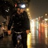 Like bike light systems, the T1's lighting is white up front and red in back--Lit bike helmet.  Way cool: Bike Light