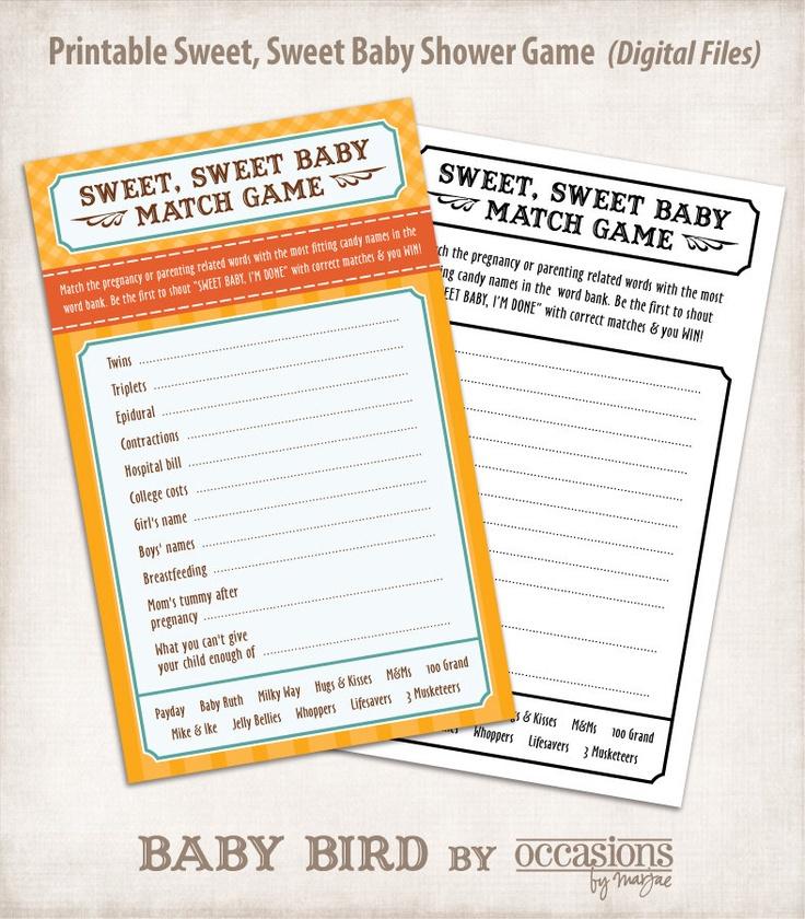 sweet sweet baby shower game digital files baby bird 6 00 via etsy
