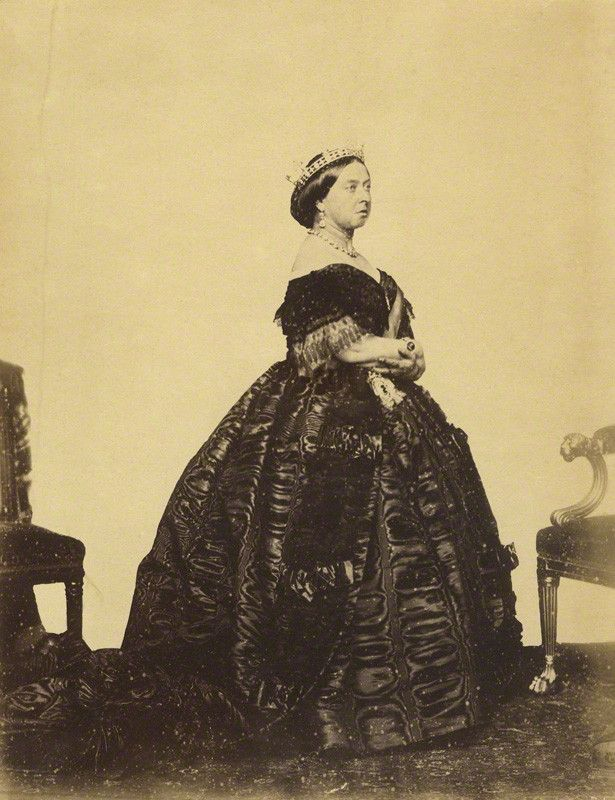 """Queen Victoria, Official Photographic Portrait, 1861. Taken by Charles Clifford on 14 November 1861. Victoria recorded in her diary that she had """"dressed in evening dress with diadem and jewels"""" to take this portrait. It was meant to be the first of..."""