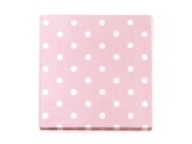 Servietter Dot Pink - Congratulations