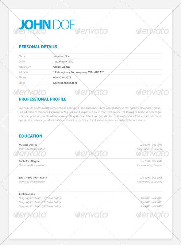 44 Best Stylish CVs Images On Pinterest Resume Design