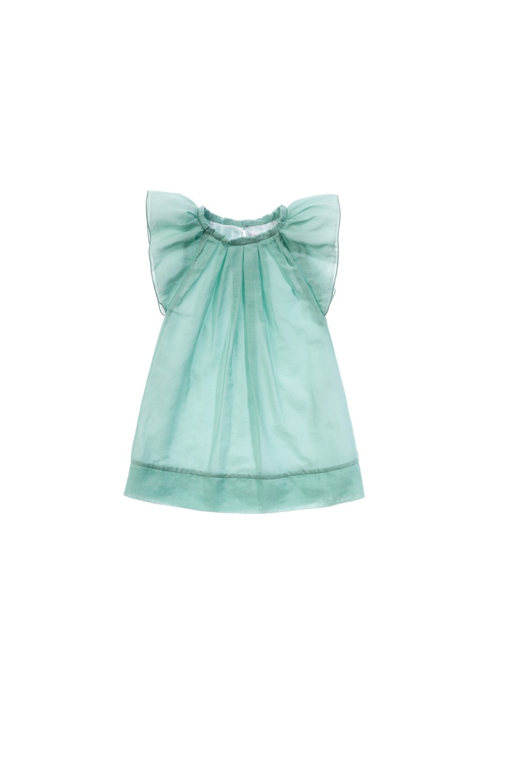 Mint dress / Vestido color menta http://shop.ilgufo.it/it/BAMBINA-2-14-anni/ABITI/Vestito-manica-corta-in-voile-2.html