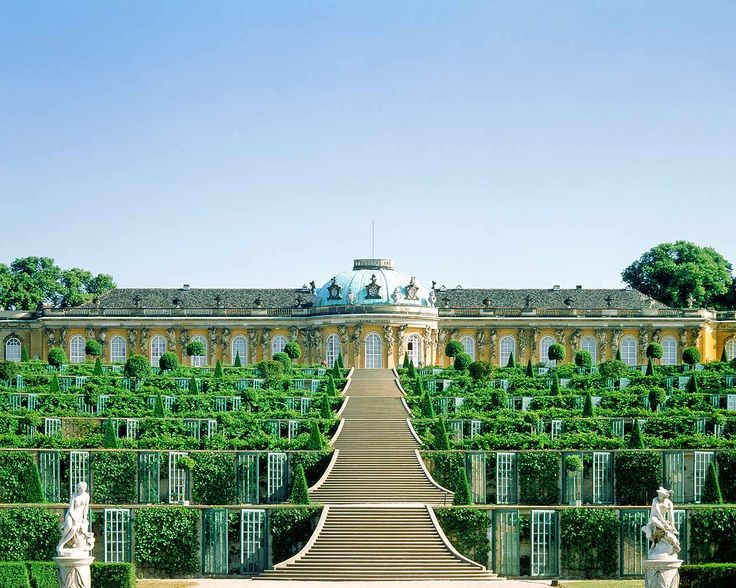 Schloss  Sanssouci was Frederick the Great's fabled retreat in Potsdam, Germany. (Just outside of Berlin)