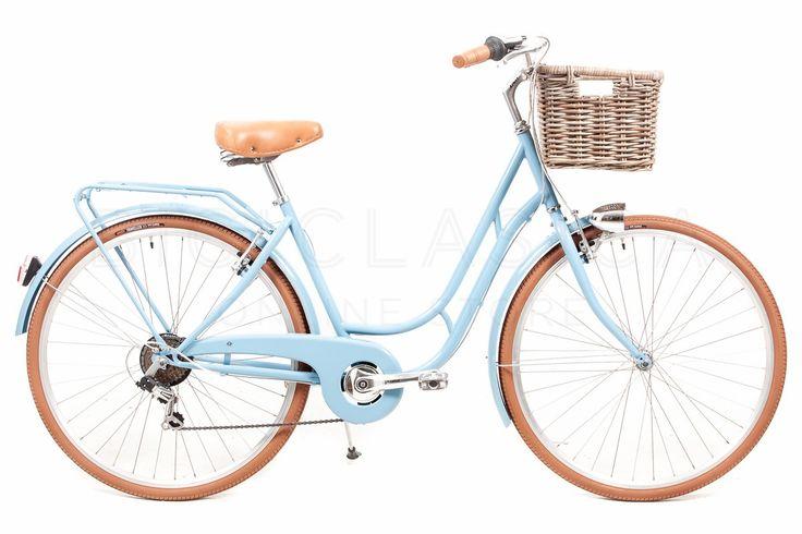Bicicleta de Paseo Capri Berlin Azul-Marrón 6v