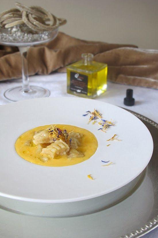 Gnocchi con aceite de trufa y yema. To be Gourmet   Recetas de cocina, gastronomía y restaurantes.