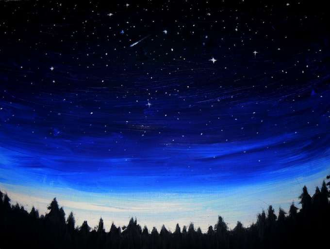 10 Night Time Landscape Drawing Scenery Drawing Drawingpencilwiki Com In 2020 Night Sky Painting Sky Painting Watercolor Night Sky