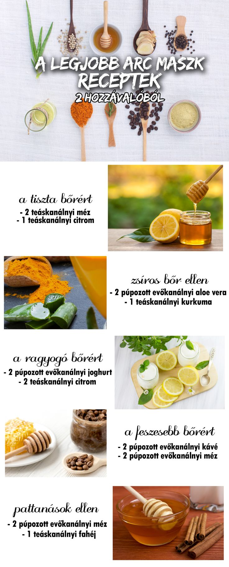 A legjobb arc maszk receptek 2 hozzávalóból! :)