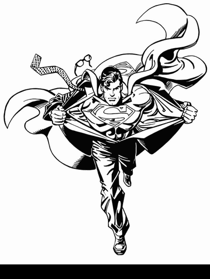 Superhero Coloring Pages See More Superman Page For Kids