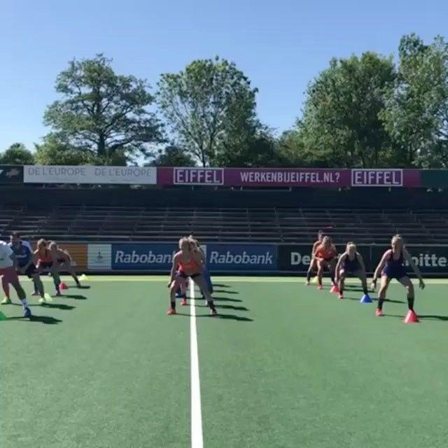 Dutch team in training