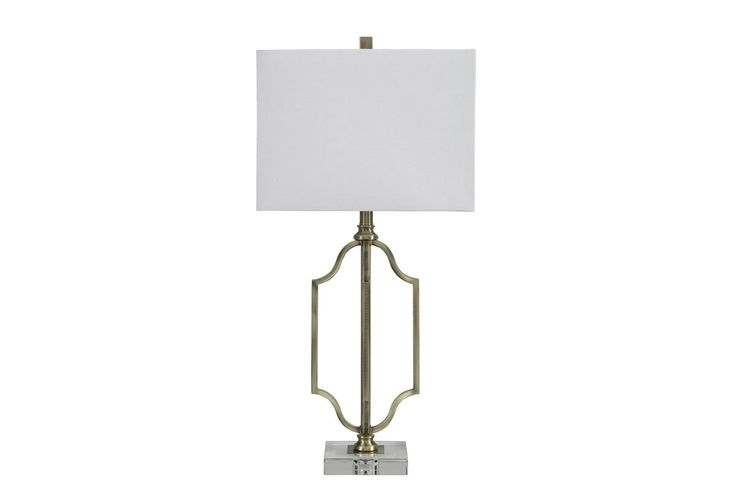 Ultra Modern Arabela Table Lamp Puts Bling In A Beautiful Light. Clover  Cutout Base