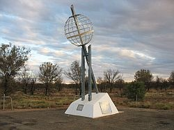 Australian marker for tropic of Capricorn, just north of Alice Springs