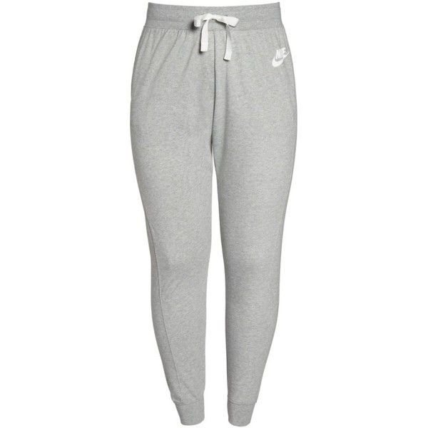 Plus Size Women's Nike Sportswear Gym Classic Pants (£46) ❤ liked on Polyvore featuring plus size women's fashion, plus size clothing, plus size activewear, plus size activewear pants, plus size, plus size sweatpants, nike activewear and plus size sweat pants